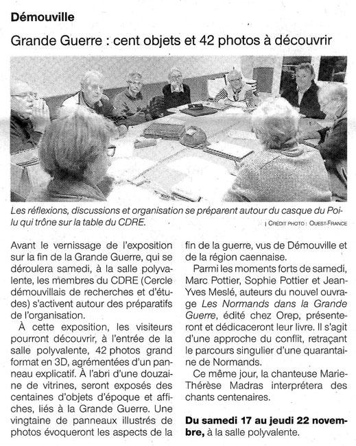 Article Ouest-France du 17/11/2018