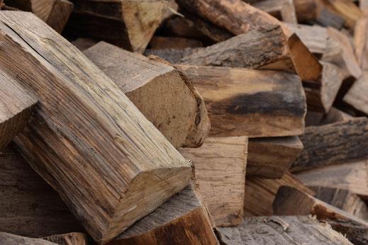 Nahansicht Brennholz