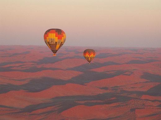 Ballonfahrt, Namibia-Reise