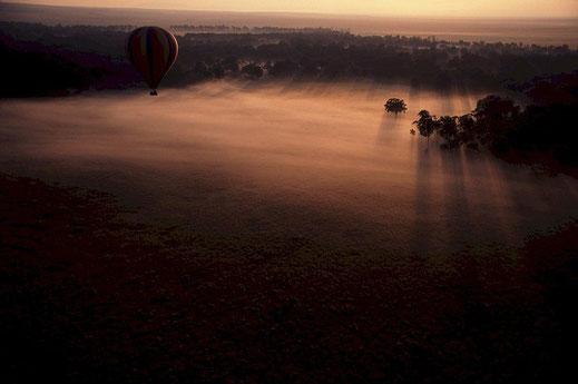 Sonnenuntergang, Sambia-Reise