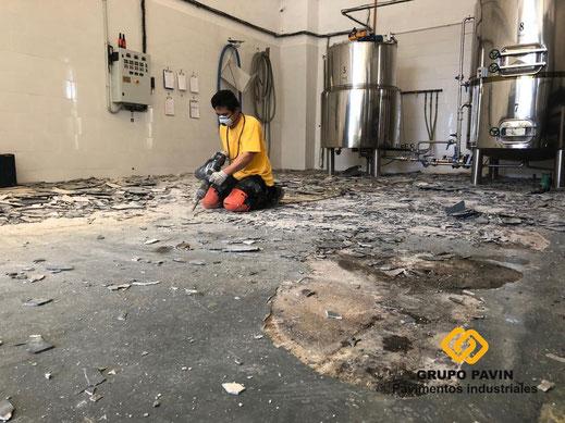 FRESADO ( Preparación del soporte actual para recibir un pavimento industrial de resinas )