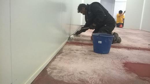 Medias cañas sanitarias para suelos de resina en los pavimentos industriales