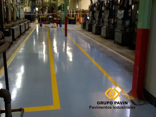 Señalización de los pasillos y zonas de trabajo