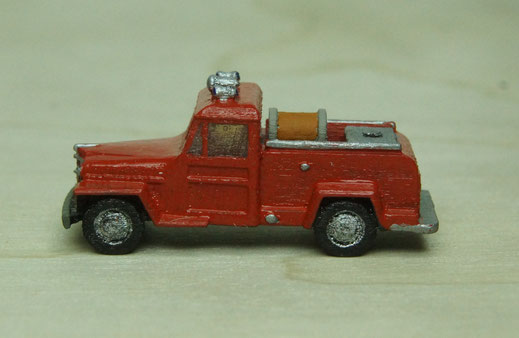 Jeep Wagon Fire Engine N Scale