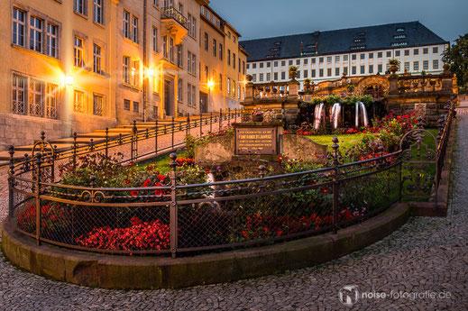 Wasserkunst in sommerlicher Abendstimmung Gotha Schloss Friedenstein