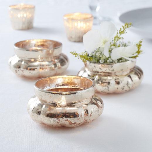 Kerzenstaender Kristall glas weiss gemischt Dekoration tischdekoration verleih mieten tischleihendeckdich Tischlein deck dich