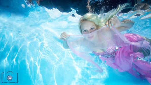 Bild: Mermaid Unterwasserfoto - Meerjungfrauenschwimmen