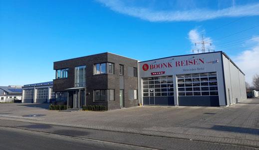 Unser Betriebshof mit dem Bürogebäude