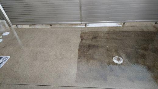 コンクリート洗浄
