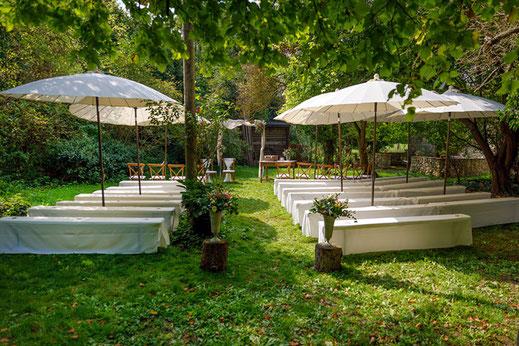 Freie Trauung im romatischen Garten