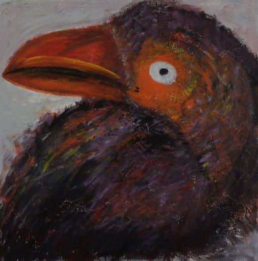 Paradiesvogel (90x90cm)
