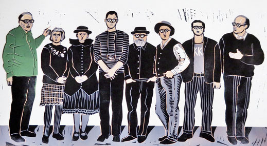 Die aktuellen Mitglieder sind (v-li.n.re.):  Theo Kerp, Barbara Räderscheidt, Astrid Rosner, Gerd Kuck, Herbert Rosner, Heribert Schulmeyer, Jojo Wolff und Max Zimmermann