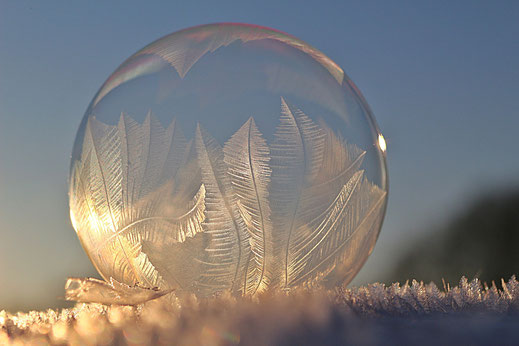 A frozen air bubble