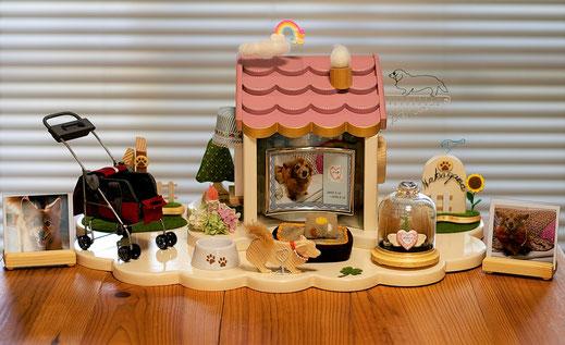 ペットロス・特効薬・ペット仏壇 ・ペット仏具・ かわいいペット仏壇  天使のおうち