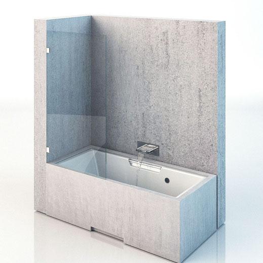 Duschwand für Badewanne