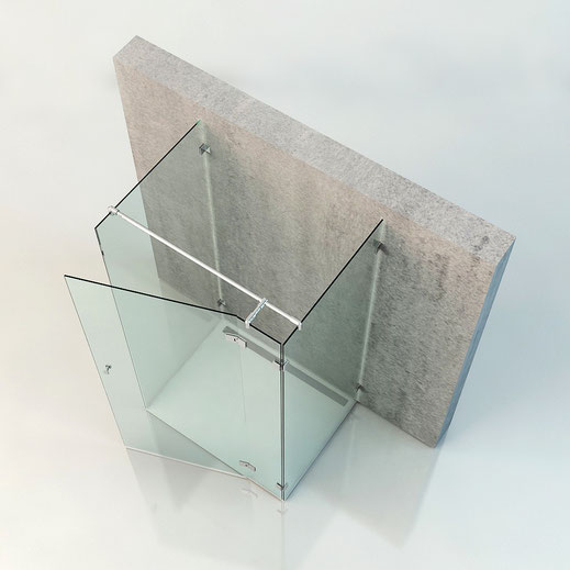 U-Form Dusche