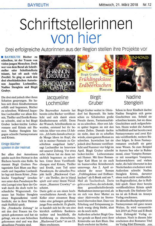 Fränkische Zeitung - Ausgabe 12 - 21.03.2018