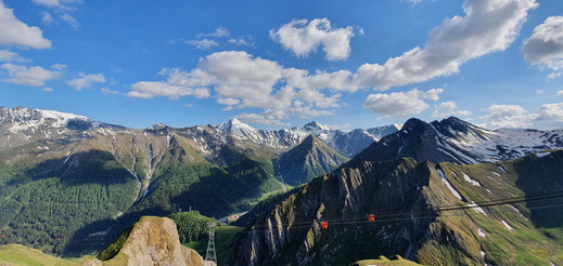 Aussicht vom Alp Trider Sattel ins Tal