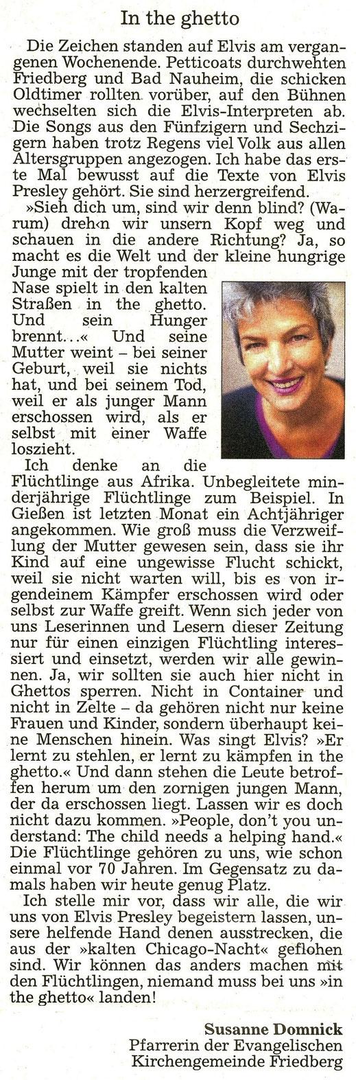 WZ 22.08.2015 - Susanne Domnick, Pfarrerin Friedberg