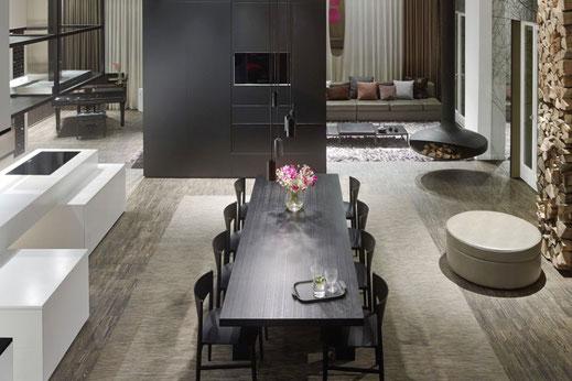 loft esn ippolito fleitz apartment91 stoffe textiles vorhaenge curtains rug teppich upholstery