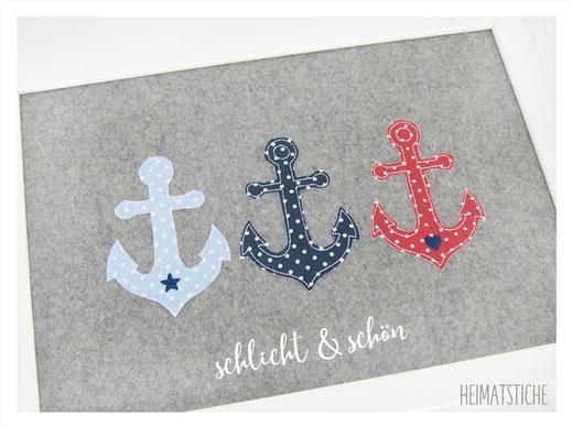 Stickdatei Stickmuster Embroidery Maschinensticken  Doodle Applikation Ankerliebe Anchour Anker See Maritim Meer Piraten Herz Stern Set