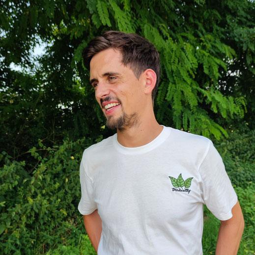 Marco Krumm, triohealthy Shirt, Madeinfreedom, lachender Mann