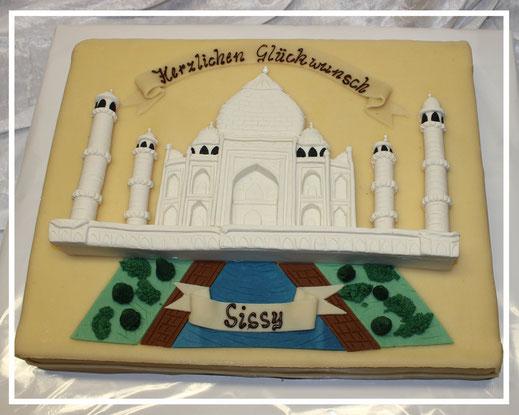 Marzipanzauber, Taj Mahal Tortendekor, Geburtstagstorte
