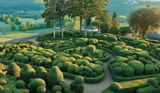 Les jardins de Marqueyssac, situés sur la commune de Vézac en Dordogne (24).