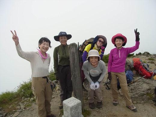 烏帽子岳(2,017m)にて