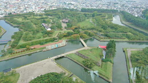 最終日。幕末に作られた日本初西洋式城塞(五稜郭タワーから)