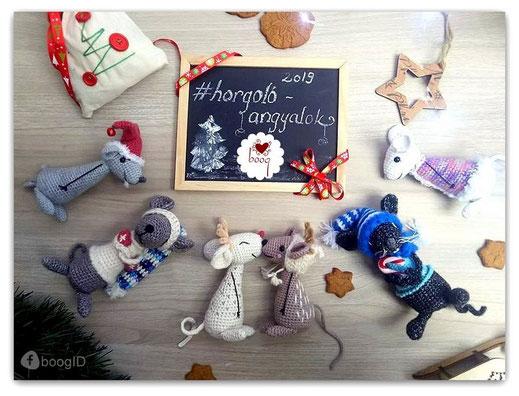 #horgolóangyalok karácsonyi horgolás minta ingyenes egérke