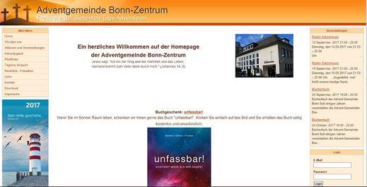Homepage der Adventisten in Bonn