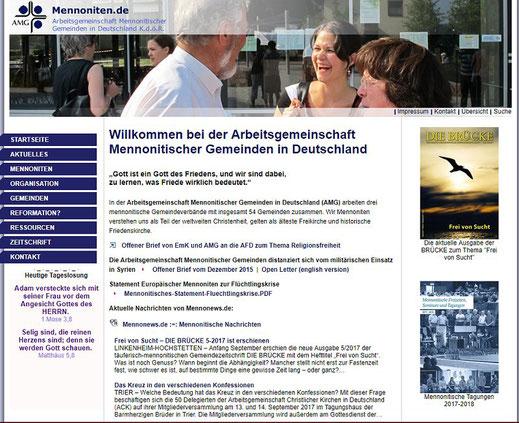 Homepage der Mennoniten in Deutschland