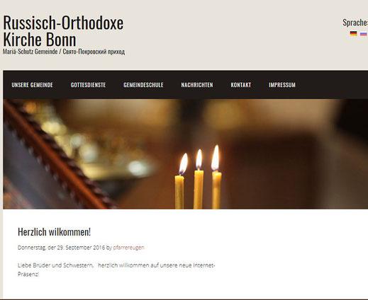 Homepage der Bonner Gemeinde