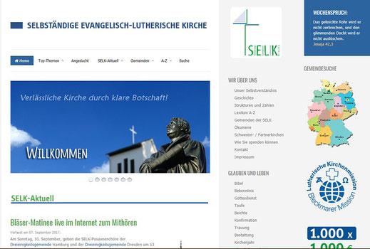 Homepage der SELK in Deutschland