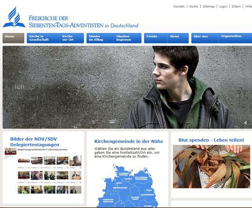 Homepage der Adventisten in Deutschland