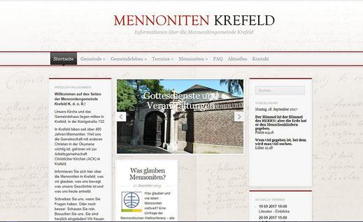 Homepage der Mennonitengemeinde Krefeld K.d.ö.R.