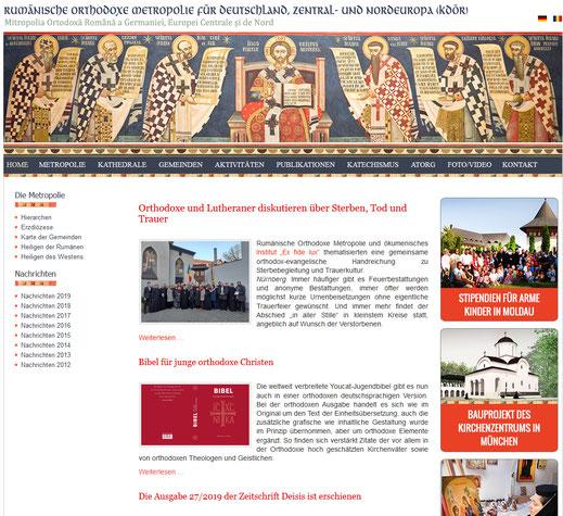 Homepage der Heilsarmee in Deutschland