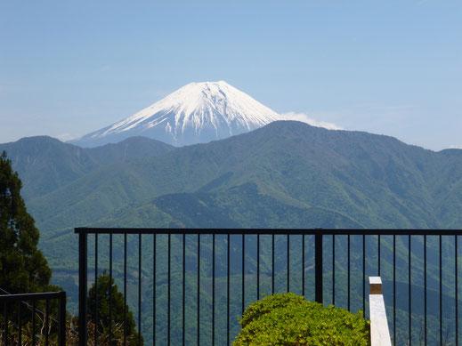 身延山思親閣より望む富士山