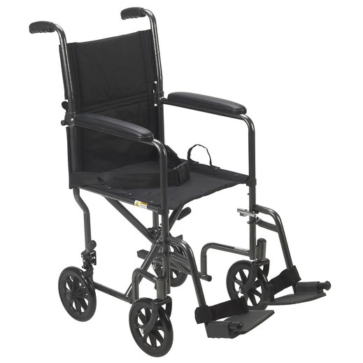 Drive Go-Kart Light Weight Steel Transport Wheelchair with
