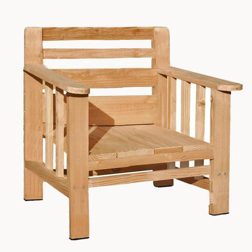 fauteuil bois jardin