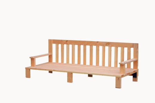 canapé de jardin bois