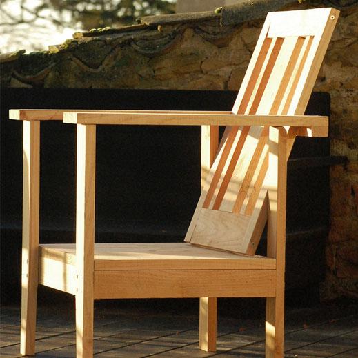 fauteuil bois de jardin