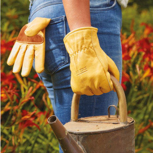 gants de jardinage cuir