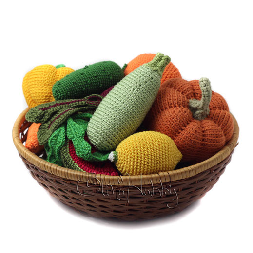 Crochet fruits and vegetables by OlinoHobby.
