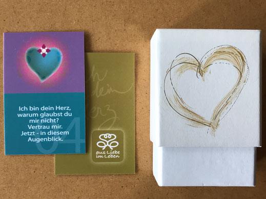 Ich bin dein Herz Set (Box hier noch ohne individuellen Namen), Vorder-und Rückseite