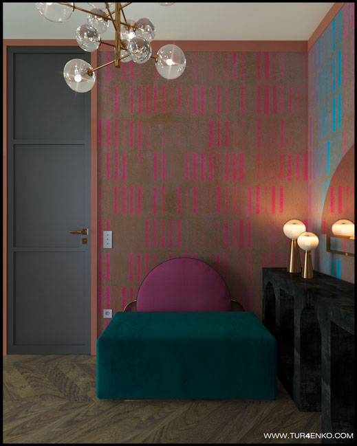 3 дизайн квартиры в стиле contemporary в ЖК Зиларт 89163172980