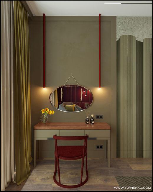идеи для женского уголка в спальне в ЖК Премиум квартал JAZZ 89163172980