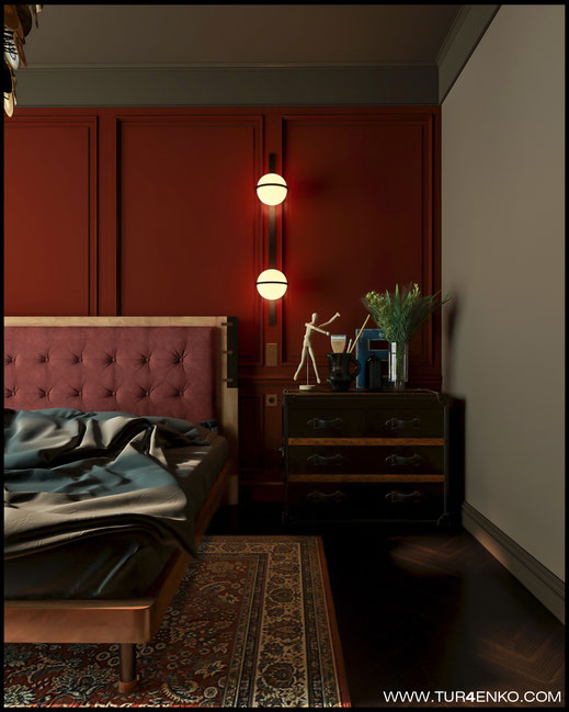 """дизайн спальни в американском стиле в ЖК """"Резиденции композиторов"""" 89163172980"""