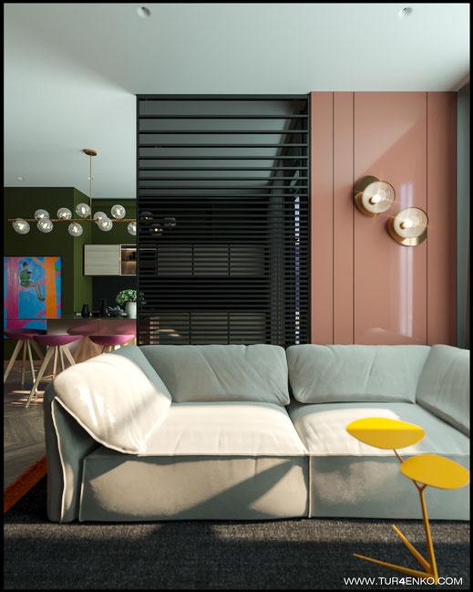 3 дизайн гостиной в стиле contemporary в ЖК Зиларт 89163172980